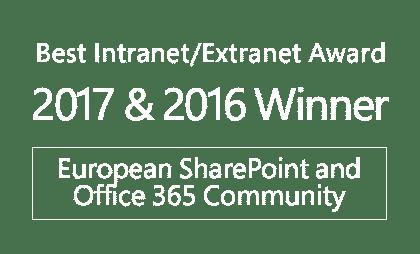 Premios ESPC - Mejor solución de Intranet Extranet 2017 y 2016