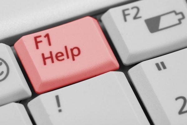 teclado con Help y F2