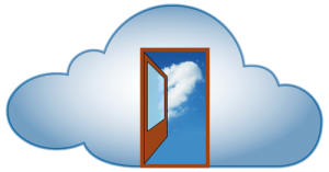 Door opening to the Cloud