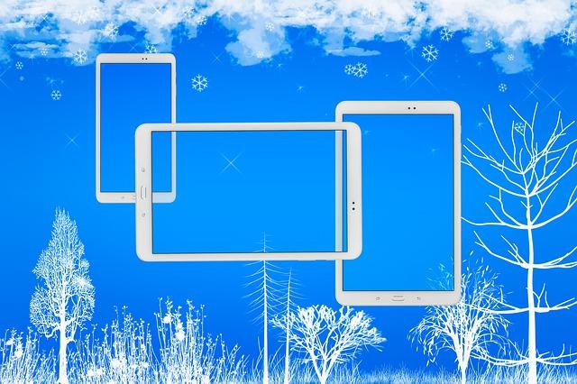 Christmas laptopm tablet mobile